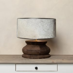 Elegant Wooden Table Lamp | Large